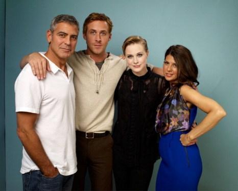 «Мартовские иды». Режиссер и актер Джордж Клуни и актеры Райан Гослинг, Ивэн Рэйчел Вуд и Мариса Томей представили фильм «Мартовские иды» на кинофестивале в Торонто, Канада. Фото: Matt Carr/Getty Images
