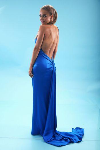 Вечернее платье из шёлкового атласа. Фото: Christopher Polk/Getty Images for VH1