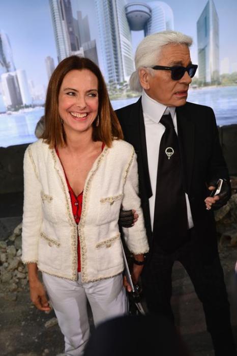 Кароль Буке и Кард Лагерфельд на показе новой коллекции Chanel в Париже 2 июля 2013 года. Фото: Pascal Le Segretain/Getty Images