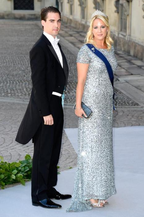 Принцесса Греции Феодора и князь Греции Филиппос на свадьбе принцессы Мадлен и Кристофера ОНила в Швеции. Фото: Pascal Le Segretain/Getty Images