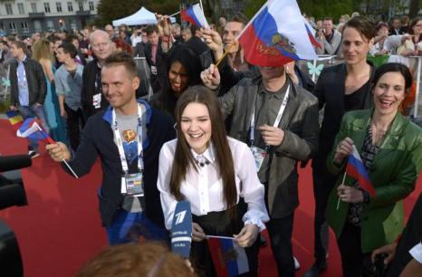 Дина Гарипова, представительница России, прибыла на церемонию открытия Евровидения 2013 в Мёльме, Швеция. Фото: Janerik Henriksson / SCANPIX/AFP/Getty Images