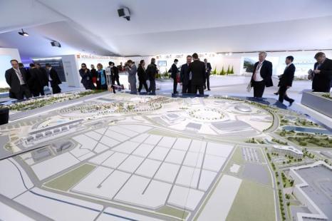 Проект эпподрома Формулы Один российской экспозиции на инвестиционной выставке MIPIM-2013. Фото:  VALERY HACHE/AFP/Getty Images