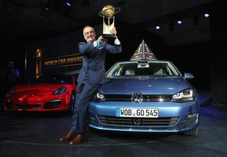 Лучшим автомобилем 2013 года признан Volkswagen Golf 7. Фото: John Moore/Getty Images