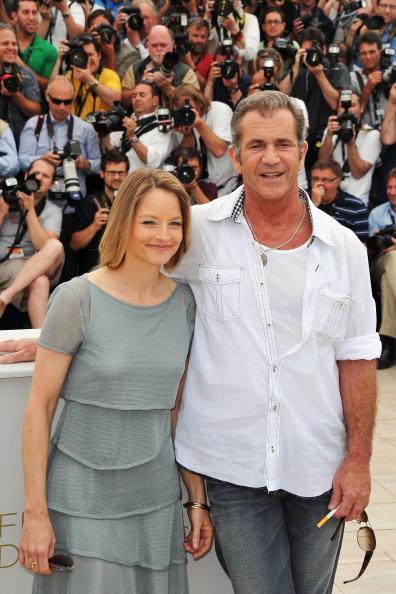 Мел Гибсон и Джоди Фостер на фотоколле ленты «Бобер», 18 мая 2011, Канны, Франция. Фото: Pascal Le Segretain/Getty Images