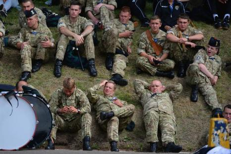 Репетиция фестиваля военных оркестров прошла в Эдинбурге 31 июля 2013 года. Фото: Jeff J Mitchell/Getty Images