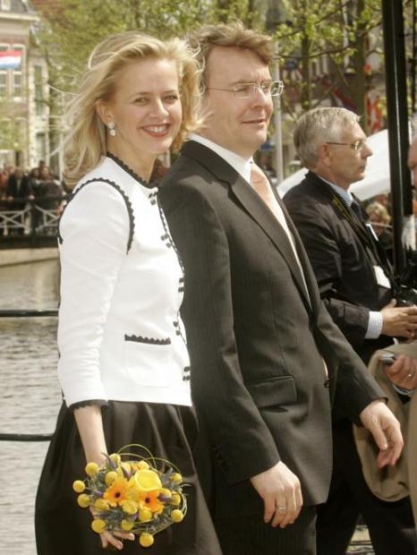 Принц Йохан Фризо и принцесса Мэйбл, 30 апреля 2008 года. Фото: Mark Renders/Getty Images