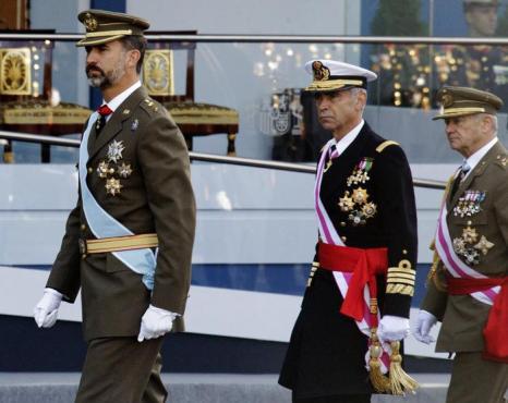 Принц Филипе 12 октября 2013 года на военном параде в Мадриде по случаю празднования Национального дня Испании. Фото: Eduardo Parra/Getty Images