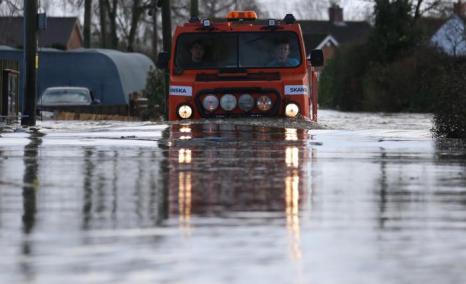 Наводнение на юге Великобритании 16 февраля 2014 года. Фото: Matt Cardy/Getty Images