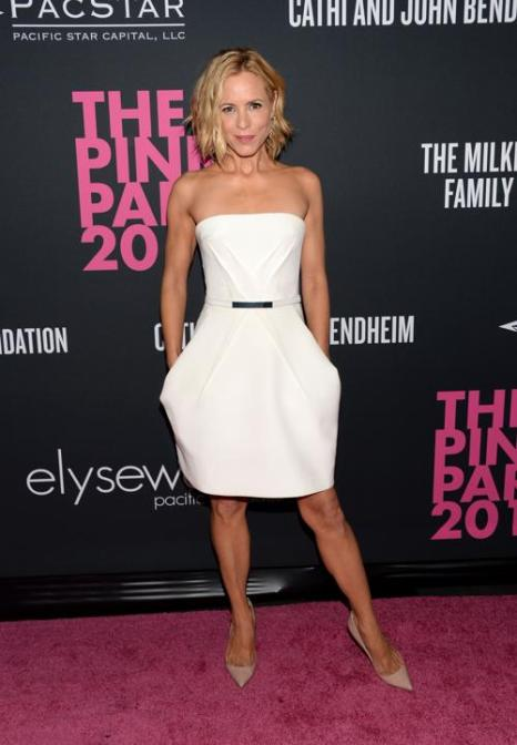 Актриса Мария Белло посетила благотворительный вечер моды Pink Party в поддержку борьбы с «женским» раком 19 октября 2013 года в Санта-Монике (Калифорния, США). Фото: Jason Kempin/Getty Images for Cedars-Sinai Womens Cancer Program