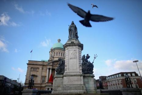 Статуя королевы Виктории в английском городе Халл, ставшим Городом культуры Великобритании 2017. Фото: Christopher Furlong/Getty Images
