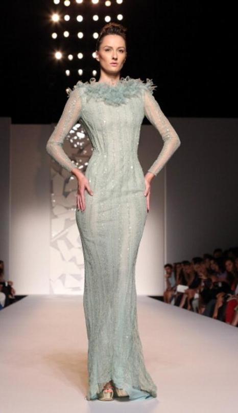 Коллекция вечерних платьев Абеда Махфуза на показе AltaRoma AltaModa A/W 2012 в Риме. Часть 2. Фоторепортаж. Фото: Villa/Getty Images