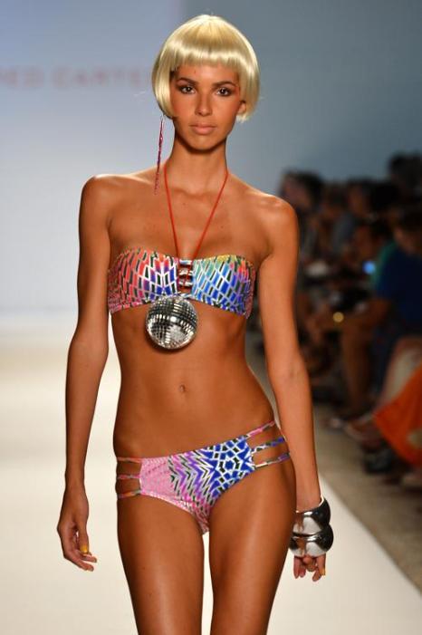 Коллекция пляжных костюмов и купальников на Mercedes-Benz Fashion Week Swim 2013 от брэнда Red Carter. Часть 1. Фоторепортаж. Фото: Frazer Harrison/Getty Images for Mercedes-Benz Fashion Week Swim 2013