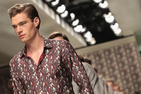 Коллекция мужской одежды Ermenegildo Zegna  весна/лето 2013 на Milan Fashion Week. Фоторепортаж. Фото: Vittorio Zunino Celotto/Getty Images