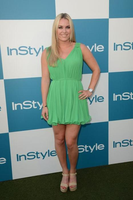 Знаменитости на летнем вечере InStyle в Западном Голливуде.  Lindsey Vonn. Часть 2. Фоторепортаж. Фото: Jason Merritt/Getty Images