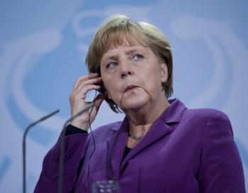 Ангела Меркель опровергла слухи о сокращении Еврозоны. Фото: JOHANNES EISELE/AFP/Getty Images
