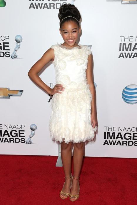 Амандла Стенберг на вручении NAACP Image Awards 1 февраля 2013 года, Калифорния, США. Фото: Frederick M. Brown/Getty Images for NAACP Image Awards