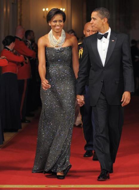 Президент Барак Обама и первая леди Мишель Обама в Белом доме, 22 февраля 2009 года, Вашингтон. Фото: MANDEL NGAN/AFP/Getty Images