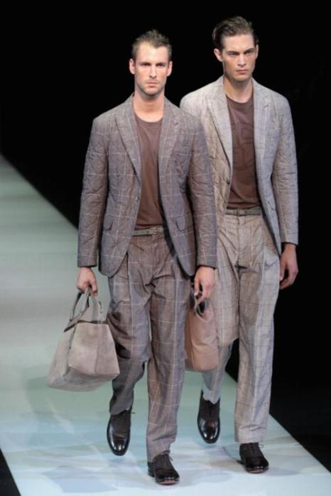Коллекция мужской одежды Giorgio Armani весна/лето 2013 на Milan Fashion Week. Фото: Vittorio Zunino Celotto/Getty Images