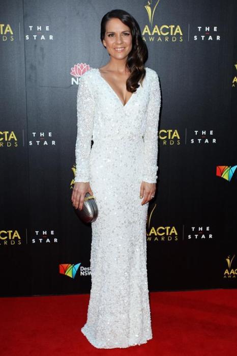 Мичала Банас (Michala Banas), актриса из Новой Зеландии, на церемонии вручения премии AACTA в Сиднее, 30 января 2013 года. Фото: Lisa Maree Williams / Getty Images