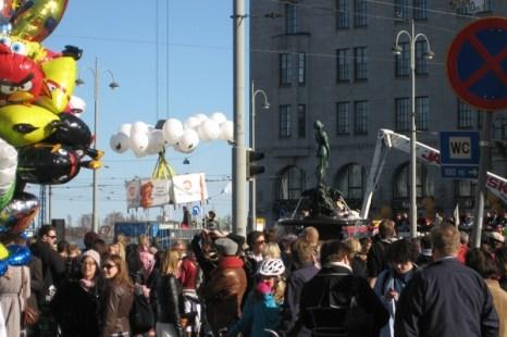 «Ваппу» или как в Финляндии отмечают Первое мая. Фото: Олег Весолайнен