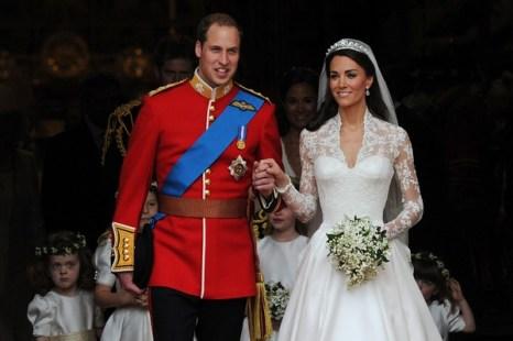 Свадебная церемония Принца Уильяма и Кейт Миддлтон. Фото: CARL DE SOUZA/AFP