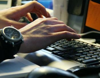 Работа за компьютером. Фото РИА Новости