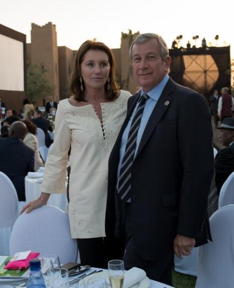 Гости Сесилия (бывшая жена Николя Саркози) и Ричард Атиас на вечере «Сделано в Африке». Фото: Didier Baverel/Getty Images for Made in Africa Foundation