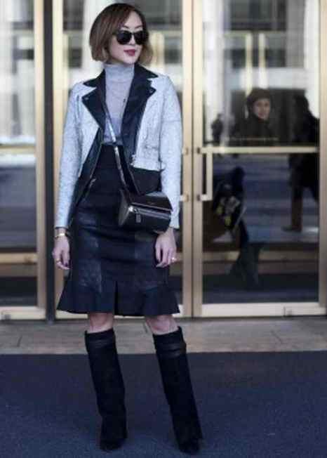 Крисель Лим во время нью-йоркской недели моды 6 февраля 2014 года. Фото: Самира Буау/Великая Эпоха (The Epoch Times)