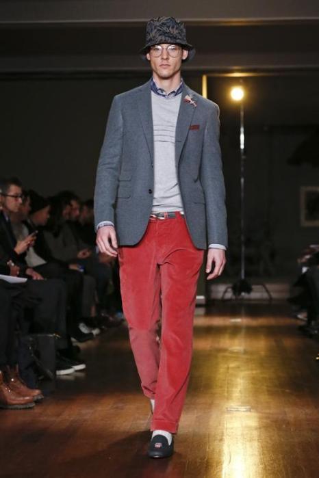 Известный дизайнер мужской одежды Майкл Бастиан провёл показ новой коллекции одежды 2014 года на нью-йоркской Неделе моды 4 февраля. Фото: Jemal Countess/Getty Images