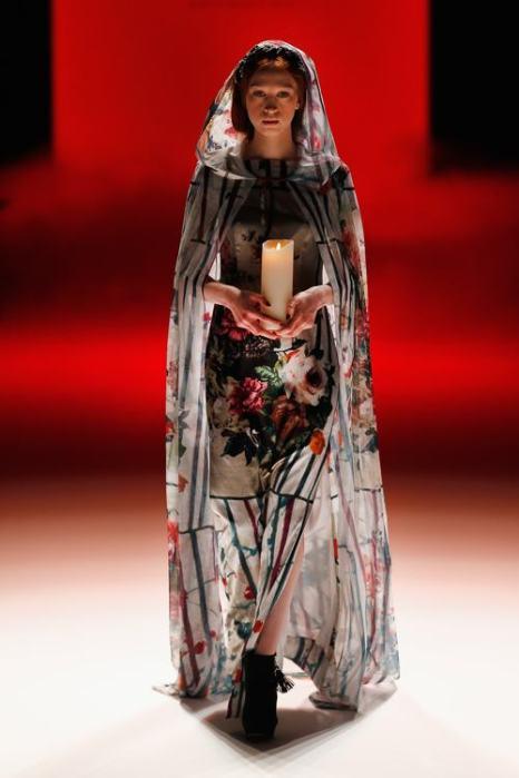 Аня Гокель представила 15 января 2014 года  женскую коллекцию одежды осенне-зимнего сезона 2013/2014 на Неделе моды в Берлине. Фото: Peter Michael Dills/Getty Images for IMG