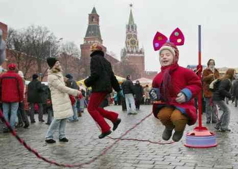 Масленица в Москве. Фото: DENIS SINYAKOV/AFP/Getty Images