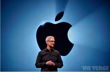 Главдир Apple Inc. Тим Кук на очередной презентации. Фото: theverge.com