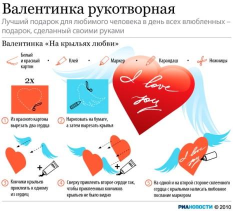 Валентинка рукотворная