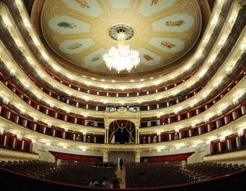 Завершение реконструкции Большого театра в Москве. Фото РИА Новости