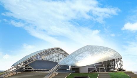 Олимпийский Стадион «Фишт» строится в Адлере, в Олимпийском парке. На стадионе будут проведены церемонии открытия и закрытия зимних Олимпийских игр. Фото: Handout/Getty Images)