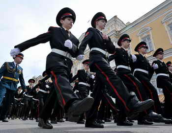 Кадеты. Фото: OLGA MALTSEVA/AFP/Getty Images