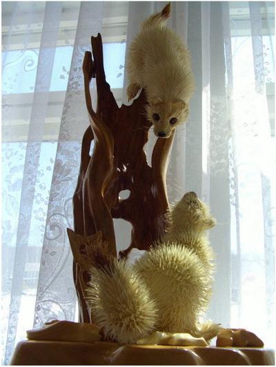 Горностаи. Сибирский кедр, ива, талина. Фото с сайта Kozhany1.narod.ru.