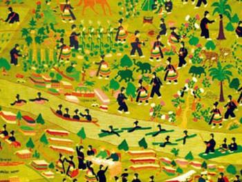 Ткань ручной работы хмонгов.