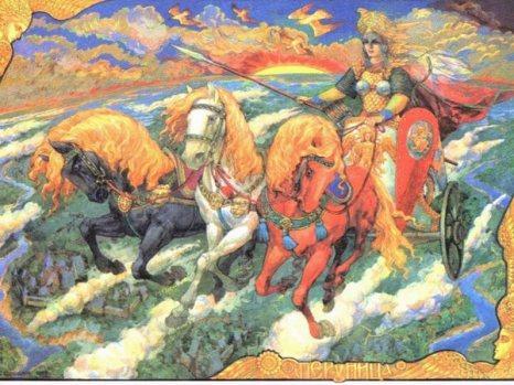 День похищений. Дива-Дадона, Перуница, жена Перуна. Виктор Корольков. Фото  сайта godsbay.ru