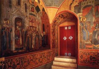 Золотая Царицына палата, фрагмент внутренней отделки.