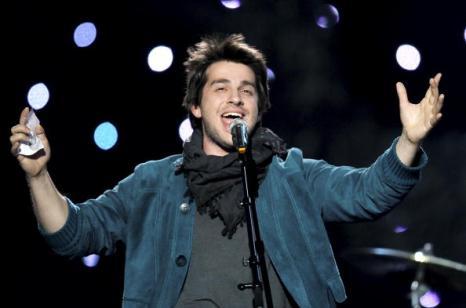 Петр Налич выступил в первом полуфинале «Евровидения-2010» со своей песней «Потерянный и забытый» и попал в финал. Фоторепортаж. Фото: CORNELIUS POPPE/AFP/Getty Images