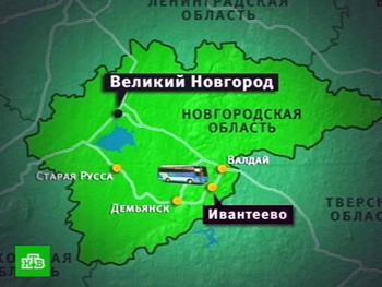 Автобус с детьми попал в аварию в Новгородской области. Фото с сайта ntv.ru