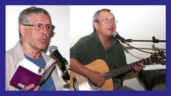 Два  народных поэта, два друга, два отличных парня. Юрий Ряшенцев и Юлий Ким. Фото Михаила Польского