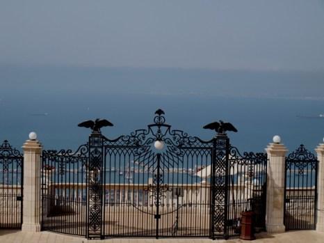 Хайфа, верхние ворота Бахайского сада. Фото: Хава ТОР/Великая Эпоха