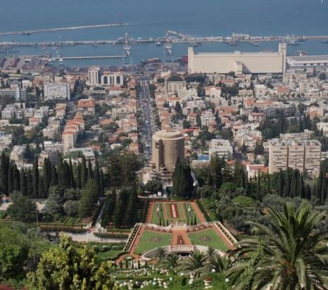 Хайфа, вид сверху на Бахайские сады. Фото: Хава ТОР/Великая Эпоха