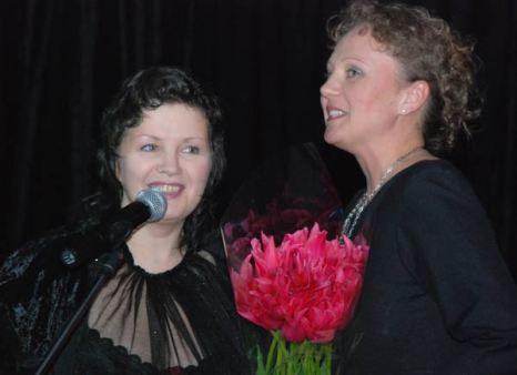 Творческий вечер Ирины Шведовой, посвященный празднованию Дня рождения певицы. 28 апреля 2010 год. Фото: Юлия Цигун/Великая Эпоха