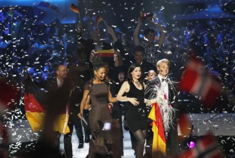 На конкурсе «Евровидение-2010» победила Лена Майер-Ландрут из Германии. Фото: DANIEL SANNUM LAUTEN/AFP/Getty Images