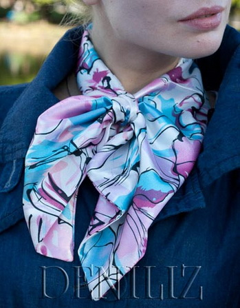 Французская косынка (шарфик франтон) - аксессуар на каждый день. Фото с deniliz.com