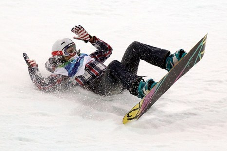 Олимпиада в Ванкувере. Падение Gretchen Bleiler, сноубордистки из США. Фото:Streeter Lecka/Getty Images Sport