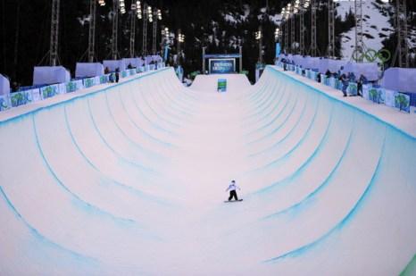 Олимпиада в Ванкувере. Сноубординг.Mercedes Nicoll, Канада.  Фото:ADRIAN DENNIS/Getty Images Sport